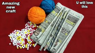 DIY Best out of waste Newspaper, Wool & Thermocol balls/Cool Craft Idea