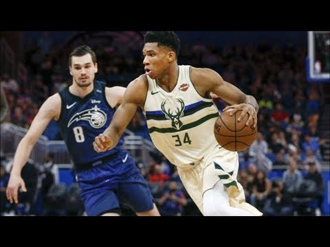 Giannis Antetokounmpo Dunks on Biyombo! 32 Points vs Magic! 2017-18 Season