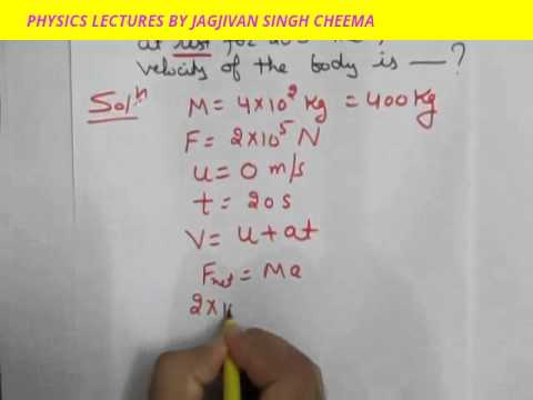 A SOLVED NUMERICAL CLASS 9TH FORCE PART-9