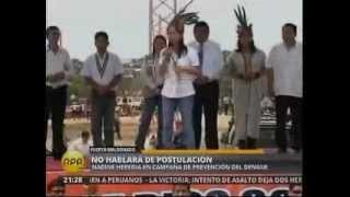 Primera Dama en campaña de prevención del dengue en Puerto Maldonado