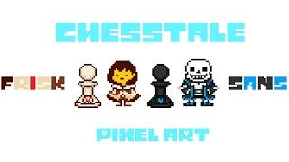 체크메이트, 꼬마야. [픽셀아트 - 체스테일 샌즈 & 프리스크] - Pixel Art - chesstale Sans & Frisk (김밥이 :P)