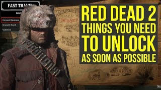 Red Dead Redemption 2 Tips THING YOU NEED TO UNLOCK As Soon As Possible (RDR2 Tips And Tricks)