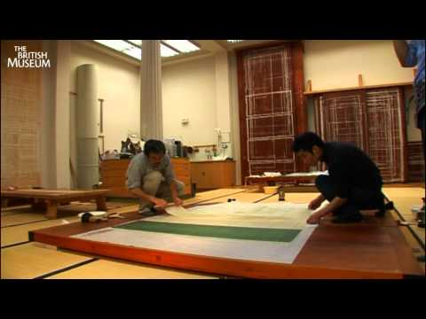 Conserving the Gan Ku Tiger scroll painting at the British Museum