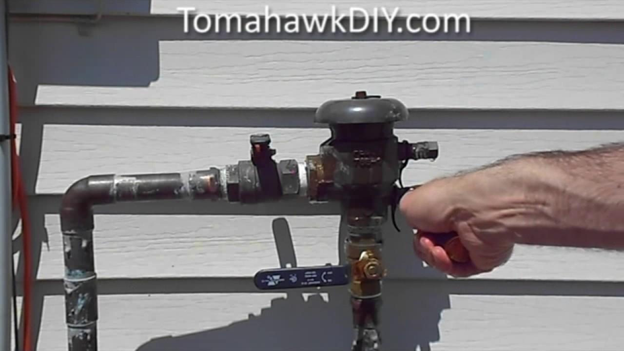 Sprinkler System Backflow Preventer Diagram Chevrolet Sonic Radio Wiring Broken How To Repair Youtube
