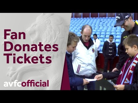 Villa Fan Donates Four Season Tickets