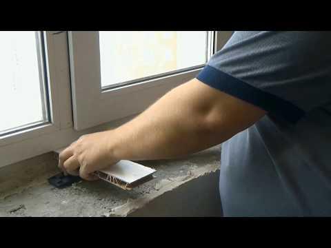 Установка подоконника на пластиковые окна своими руками видео