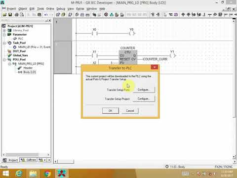 MITSUBISHI PLC Programming and Simulation on GX-IEC DEVELOPER