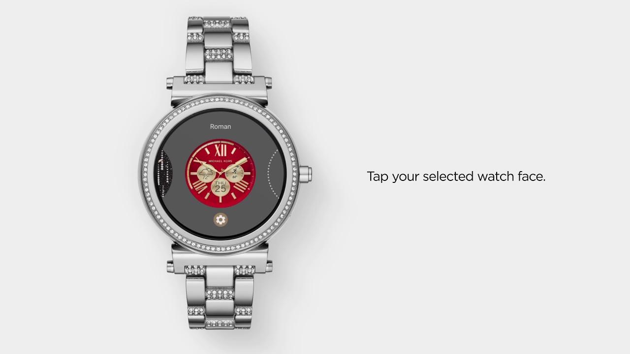 Michael Kors Zugang Sofie Smartwatch | Verwenden von benutzerdefinierten Watch Faces