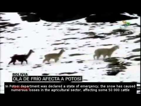 Polar cold wave hits Bolivia