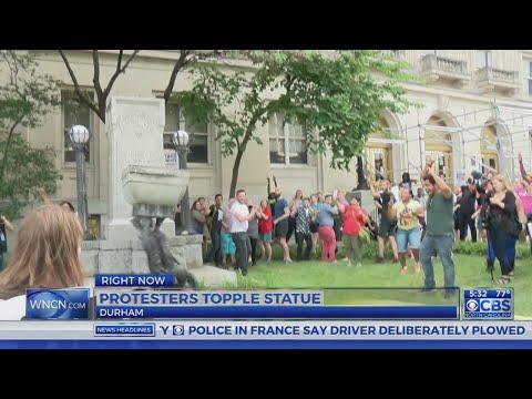 Durham, Gov. Cooper respond to Confederate statue takedown