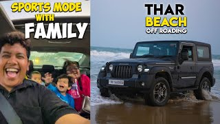 Off-Roading Thar on Beach | Vera Level Experience🔥🔥🔥 - Irfan's View