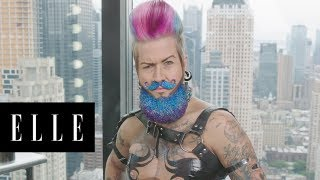 Spikey van Dykey's Amazing Drag King Transformation | About Face | ELLE