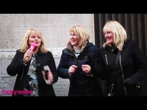 Christmas Karaoke Busking at Carnaby Street, London | Lucky Voice Karaoke