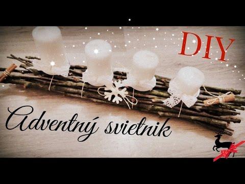 adventný svietnik 2/24- Advent candlestick - Christmas decoration