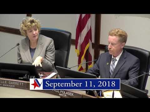 Victoria Texas City Council Meeting of September 11, 2018