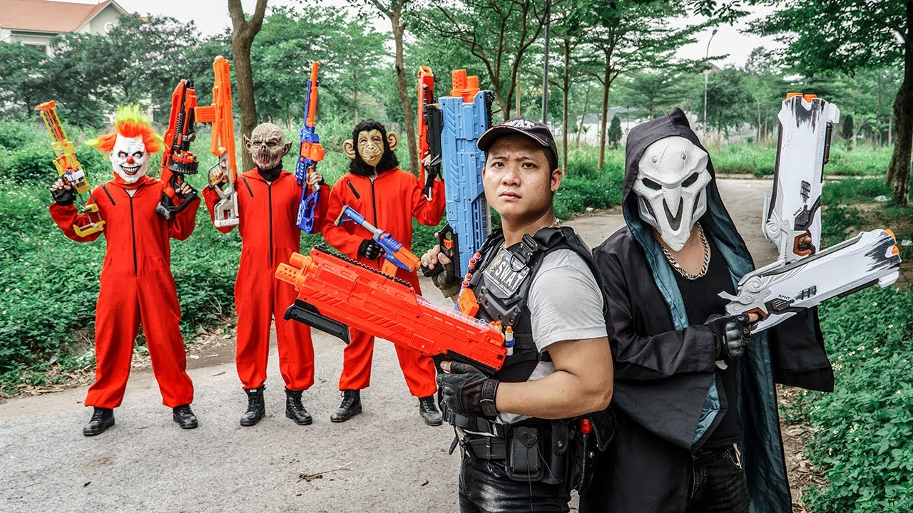 LTT Films : Captain Warriors S.E.A.L X Nerf Guns Fight Beast Army Mask Group Anonymous Bandits