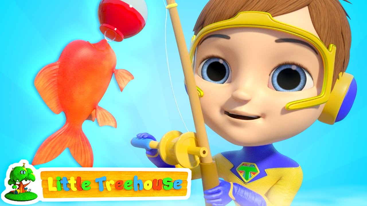 12345 Once I Caught A Fish Alive   Count 1 to 10 Numbers & Nursery Rhymes Songs by Little Treehouse