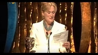 Meryl Streep BAFTA 2003 (Accepting for Charlie Kaufman)