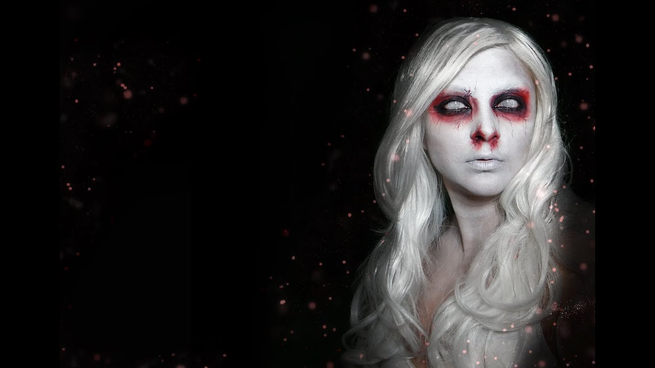 Attractive Ghost   A Simple Makeup For Halloween