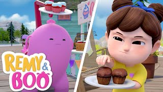 Battle of the Best Cupcakes!  | Remy & Boo | Universal Kids