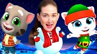 Зимний забег в игре Том бег за золотом! Эльф Анджела против морозного Тома!  От Каталекс!
