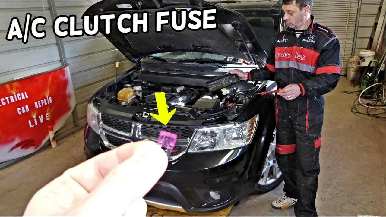 DODGE JOURNEY AC CLUTCH COMPRESSOR FUSE LOCATION FIAT FREEMONT on