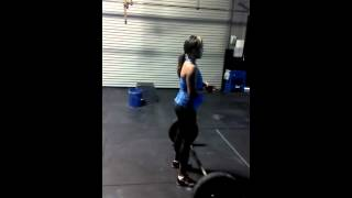 7 months Pregnant - power cleans and toe to bar