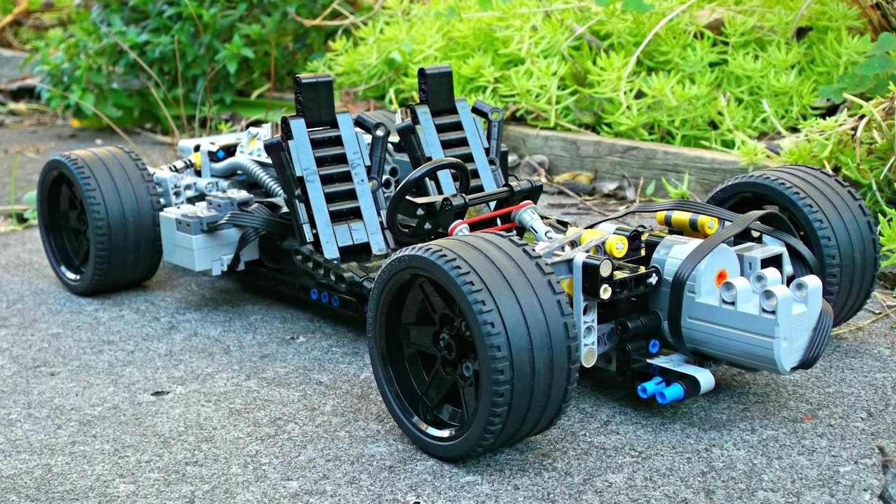 Lego Technic RC Supercar Chassis - 1/10 Scale - YouTube