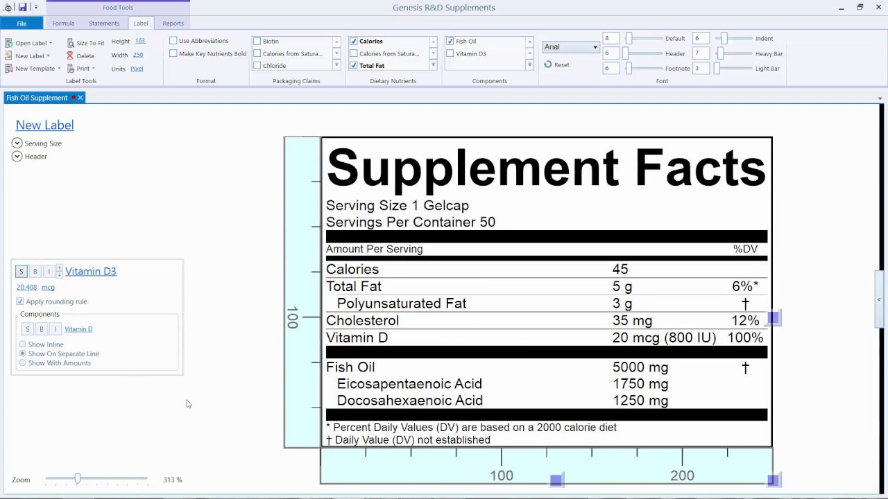 Creating A Supplement Facts Label For Your Fish Oil Formula Youtube