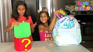 Mystery Box Back to School Switch-Up Challenge!! Kids fun