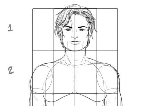 Dessin Corps Homme comment dessiner un corps masculin : les proportions de base - youtube