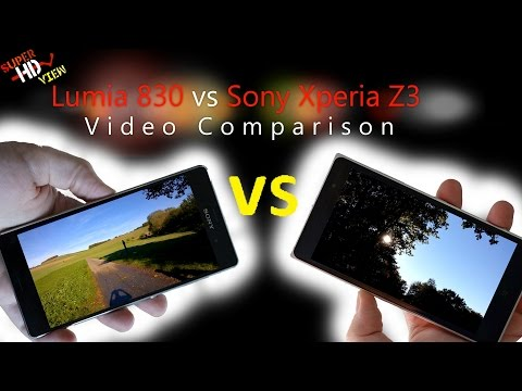 nokia lumia 830 vs sony xperia z3 was