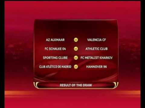 Table matches quarter-finals of the uefa europe league