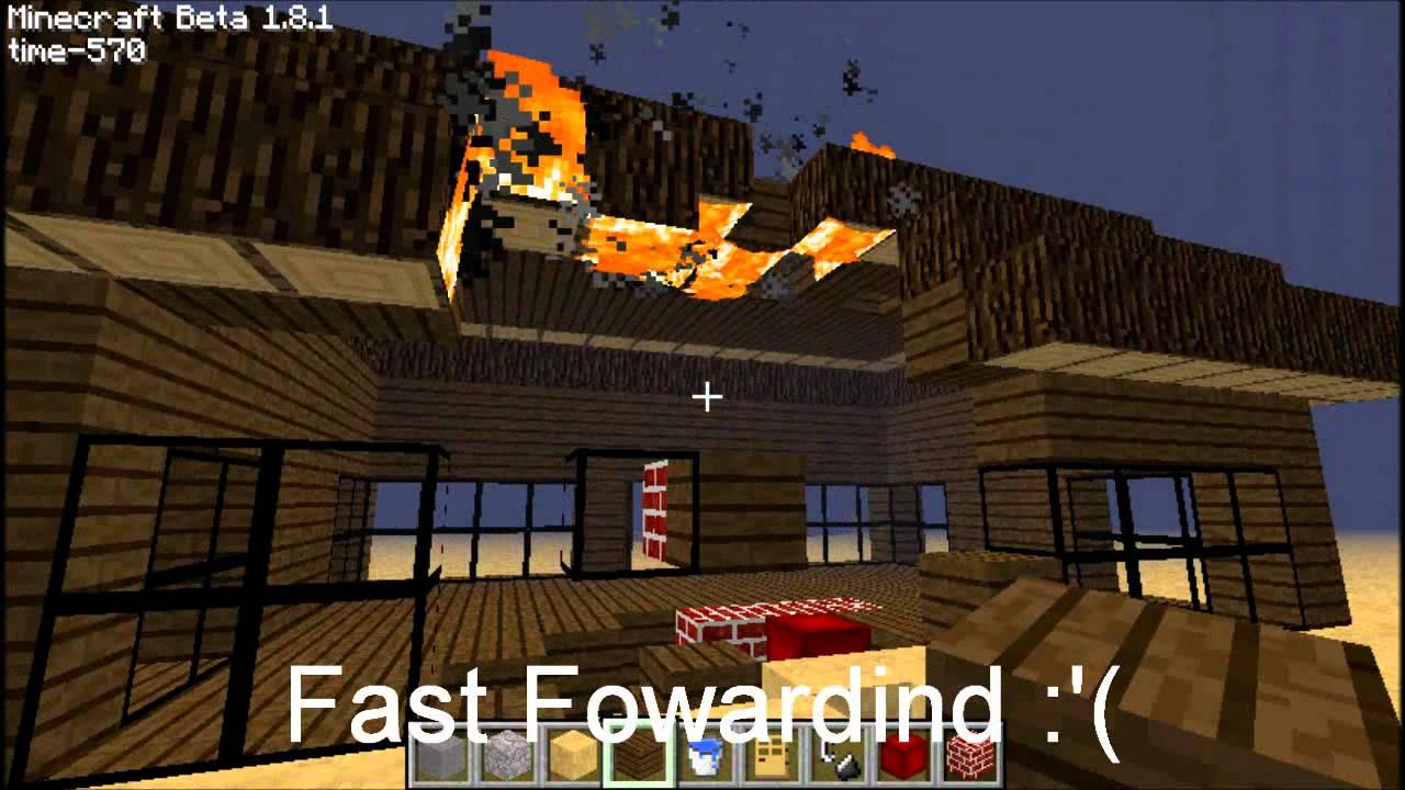 minecraft fireplace fail youtube