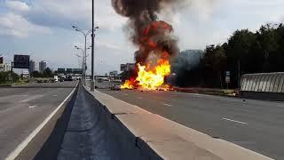 Russian Truck Gas Explosion   Балоны с Газом ДТП HD