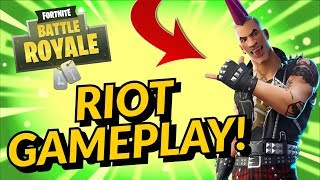 RIOT Skin Gameplay In Fortnite Battle Royale