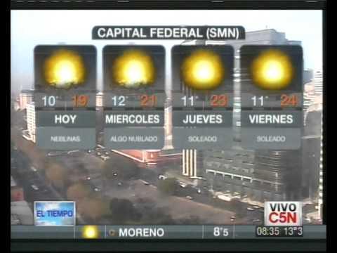 C5N - EL TIEMPO: PRONÓSTICO EXTENDIDO 11/09/2012