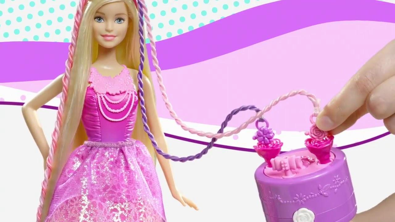 Coloriage Princesse Tresse.Barbie Princesse Tresses Magiques Dkb62 Fr Youtube