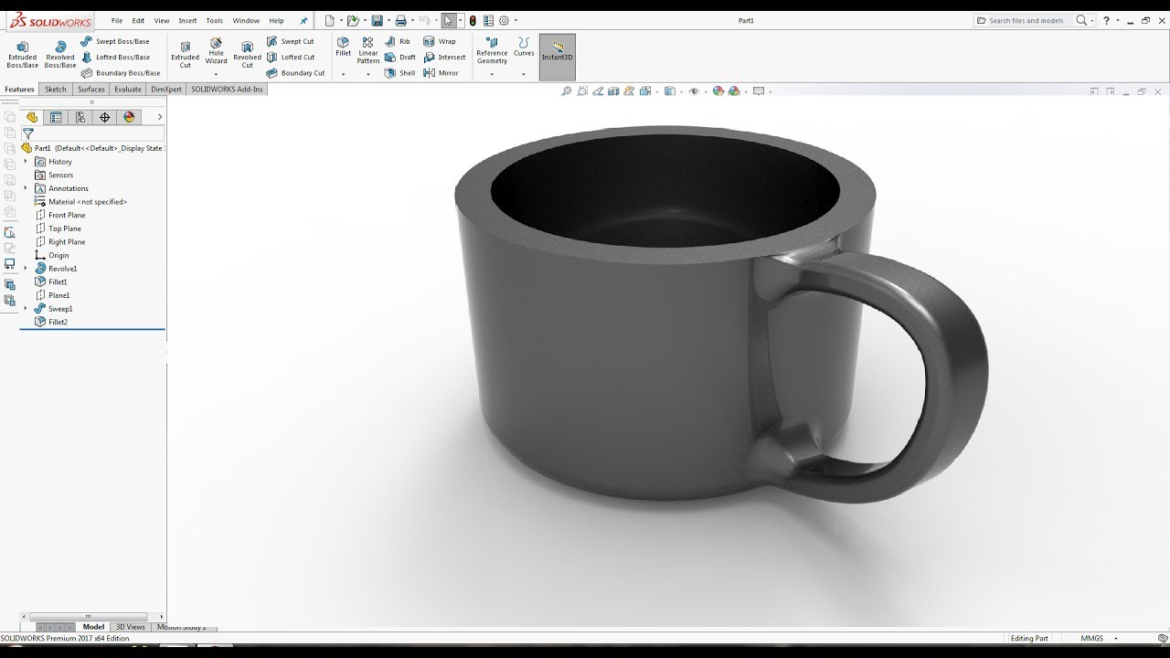 What's New in SOLIDWORKS 2017 Part : Cup  SOLIDWORKS 2018