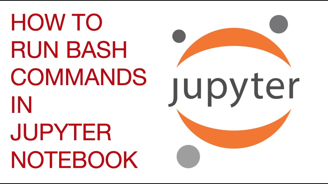 How to run bash commands in Jupyter notebook