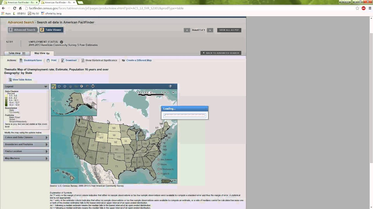 Choropleth Mapping Of Census FactFinder Data YouTube - Map of the us gis r choropleth