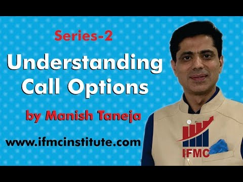 Option Trading by Manish Taneja Series-2 ll Understanding Call Options ll IFMC