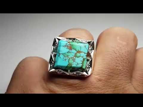 خاتم فيروز نيشابوري صياغة جميلة و حجر اصلي فيروزج Youtube