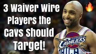 3 Waiver Wire Players the Cavaliers Should Target! | Cleveland and LeBron James With Injuries!