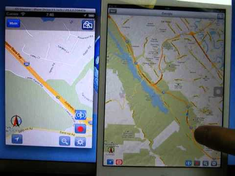 zMap v2.6 Demo2 - GPS Share via Bluetooth