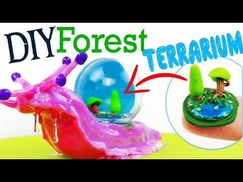 HOW TO MAKE MINIATURE FOREST TERRARIUM DOME SNAIL DIY Ocean Polymer Clay  Epoxy Resin Tutorial Craft