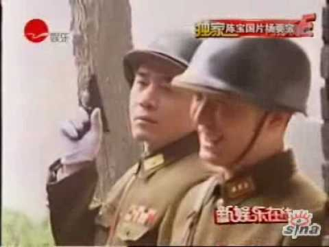 "Behind the scenes of ""Battle of Nanjing"" 《决战南京》陈宝国片场耍宝搞笑"