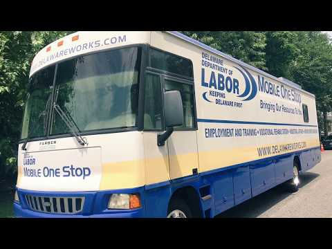 Delaware Dept Of Labor's Mobile Jobs Bus Takes Employment Opportunities To The People