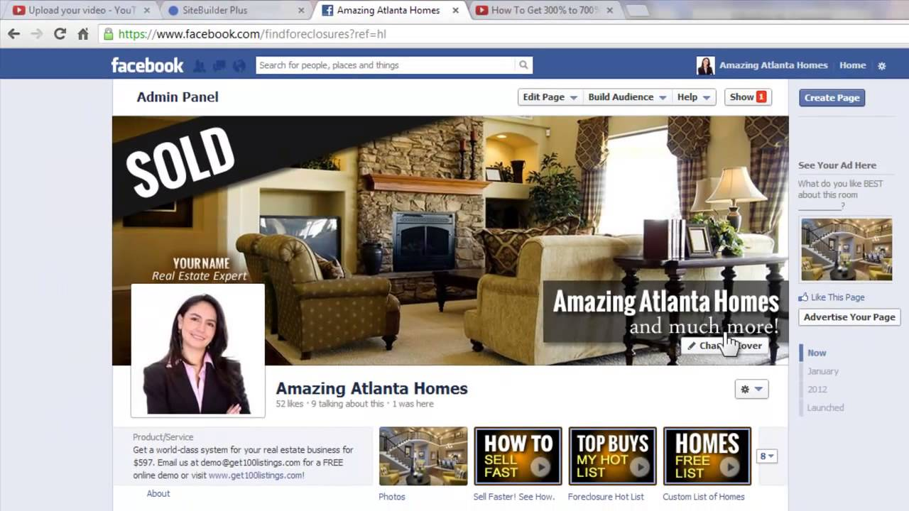 How to manage your Facebook Real Estate page cover photos - YouTube