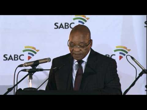 President Jacob at the SABC 24-hour news channel's expansion launch